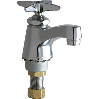 Chicago Faucets 700-COLDAB Single Supply Cold Water Basin Faucet with Cross Handle - Single Hole Installation