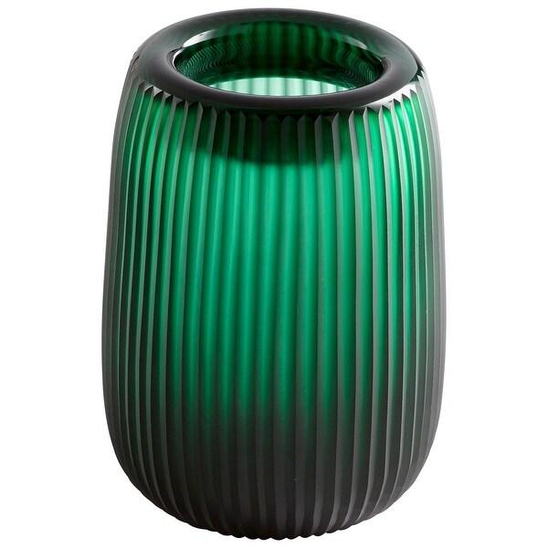 "Cyan Design 09528 Noir 7"" Diameter Glass Vase - Green"