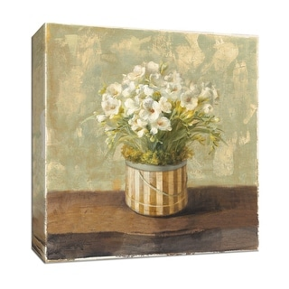 "PTM Images 9-152477  PTM Canvas Collection 12"" x 12"" - ""Hatbox Freesia"" Giclee Flowers Art Print on Canvas"