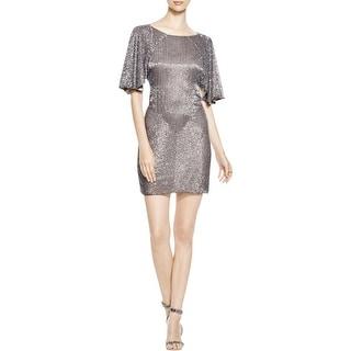 Parker Womens Cocktail Dress Silk Beaded - 2
