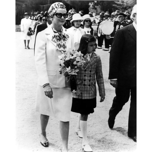 bc3087b582 Grace Kelly and Princess Stephanie walking outdoors Photo Print