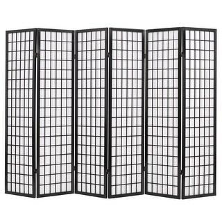 "vidaXL Folding 6-Panel Room Divider Japanese Style 94.5""x66.9"" Black"
