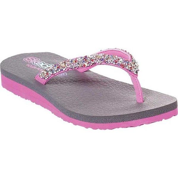 aaa6663926c4 Shop Skechers Girls  Meditation Sparkle Breeze Flip Flop Hot Pink Multi -  Free Shipping On Orders Over  45 - Overstock - 27636008