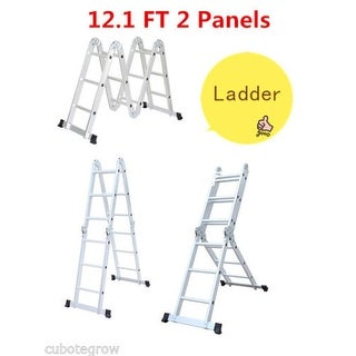 Multi-Purpose Aluminum Folding Step Ladder Scaffold 12.1FT Extend with 2 Panels