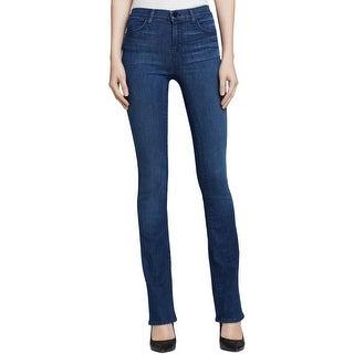 J Brand Womens Remy  Boot Cut Jeans High Waist Medium Wash