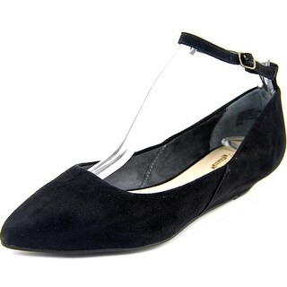 Seychelles Drove Women Pointed Toe Suede Black Flats