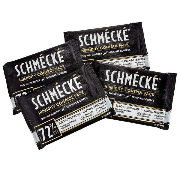 Schmécké 72% RH Cigar Two-Way Humidity Control 80 Grams x 4 Pack - Zero Guesswork - Regulate & Stabilize Humidor RH Level