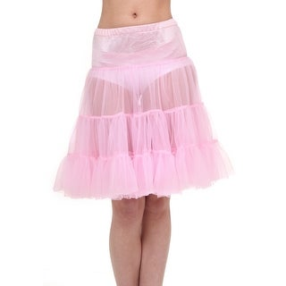 Adult Pink Knee Length Crinoline