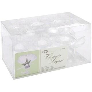 "Victoria Lynn Champagne Glasses 2"" 24/Pkg-Clear Plastic - Clear"