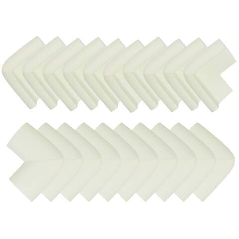20 Pack Foam Furniture Table Desks Edge Cover Pads Protectors Corner Cushions Bumper Guards White - 20pcs