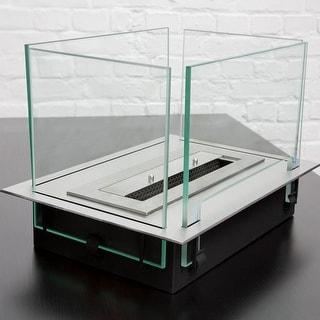 Bio Blaze Insert Table Fireplace - Clear/Silver