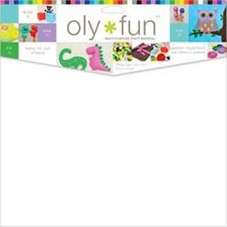 """Oly Fun Multipurpose Craft Material 12""""X12"""" 3/Pkg-Snow White"""