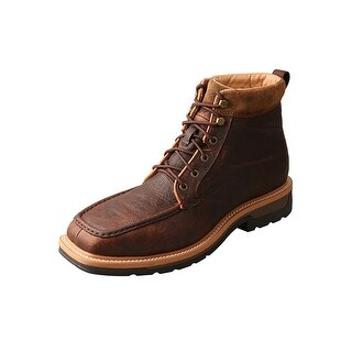 Twisted X Work Boots Mens Alloy Toe Red Buckle WP Dark Brown