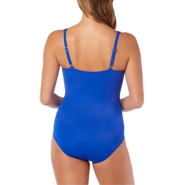 Swim Solutions Tummy Control One Piece Swimsuit Multicolor Size 14