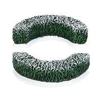"Department 56 Snow Village ""Tudor Gardens Curved Hedge S/2"" Accessory #4038842 - green"