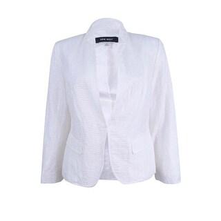 Nine West Women's Kiss Front Jacket - petal white