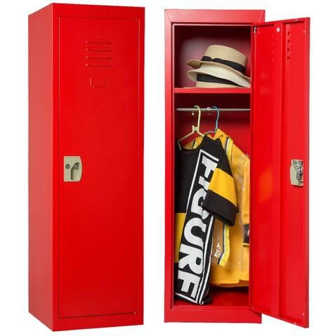 Merax Kids Locker Safe Storage Children Single Tier Metal Lockers