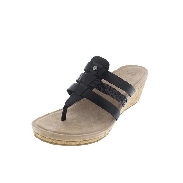 b080add7d56 Shop Ugg Womens Maddie Wedge Sandals Braided Leather - 7 medium (b,m ...