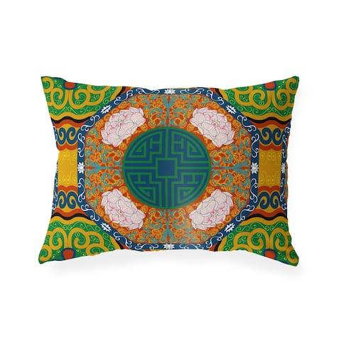 MING ORANGE Indoor Outdoor Lumbar Pillow by Kavka Designs - 20X14