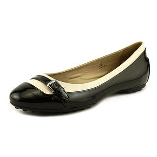 Tod's Gomma T 40 RA Fibbietta Women Round Toe Patent Leather Black Ballet Flats