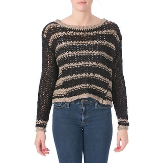 Free People Womens Silk Blend Striped Pullover Sweater - XS