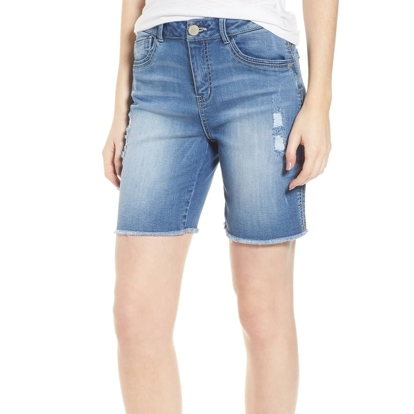 89ed51c536 Wit & Wisdom Blue Womens Size 10 Distressed Raw Hem Denim Shorts