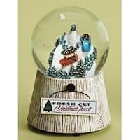"""5"""" Car with Trees Decorative Musical Christmas Glitterdome"""