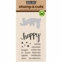 Hero Arts 374104 Stamp & Cuts - Happy