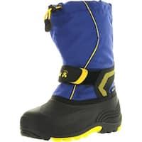 Kamik Footwear Kids Snowbank Insulated Waterproof Snow Boot - lavender (lav) pattern