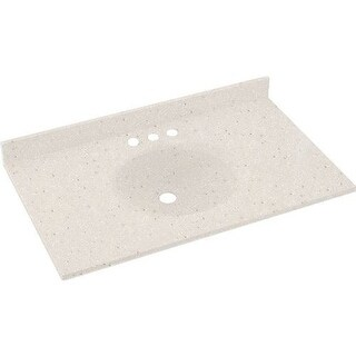 "Swanstone VT1B1925 Ellipse One Piece Vanity Top and Sink 19"" D x 25"" W"