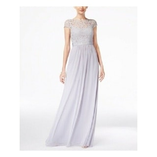 Link to ADRIANNA PAPELL Silver Sleeveless Full-Length Sheath Dress  Size 10 Similar Items in Dresses