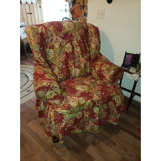 Shop Sure Fit Ballad Bouquet Wing Chair Slipcover Free