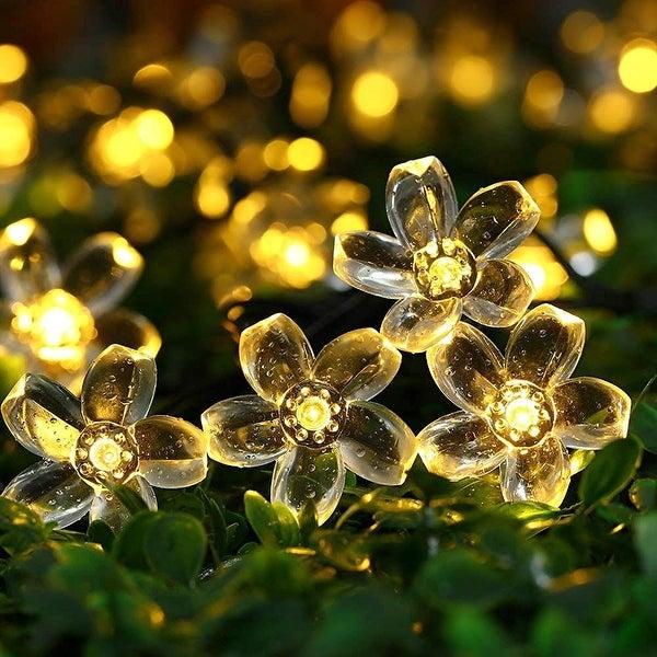 22.96ft 50 LED Solar Fairy Blossom Flower for Outdoor Lights - Medium