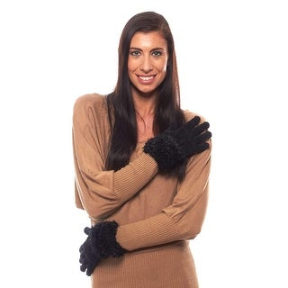 Winter Break Chenille Gloves with Fluffy Cuff