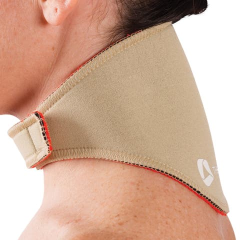 Orthozone Thermoskin Compression Neck Wrap - Increase Circulation & Pain Relief - Beige