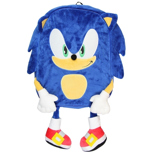 Shop Sonic The Hedgehog Plush Full Body Blue Backpack One Size Fits Most Overstock 27446330