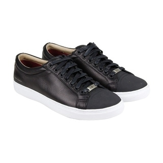 Mark Nason Santee Mens Black Leather Lace Up Sneakers Shoes