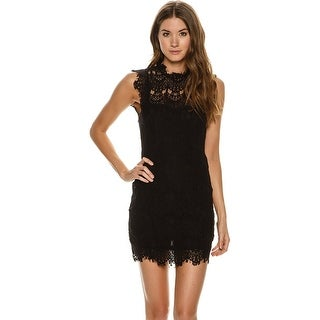 Free People Daydream Lace Bodycon Dress Black