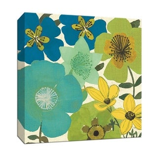 """PTM Images 9-153316  PTM Canvas Collection 12"""" x 12"""" - """"Garden Brights Cool III"""" Giclee Flowers Art Print on Canvas"""