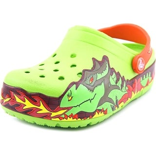 Crocs Fire Dragon Round Toe Synthetic Clogs