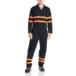 Dickies Men's Enhanced Visibility 4X-Large Regular Long Sleeve Coverall