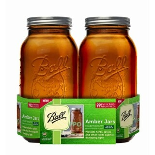 Ball 1440069047 Collection Elite Performance Series Amber Jars, 64 Oz, 2-Pack