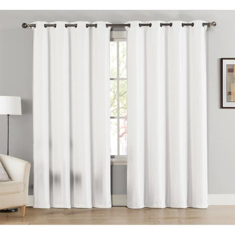 Caitlin Room Darkening Window Curtain Panels (Single, 2-Pack or 4-Pack)