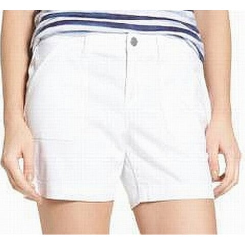 Caslon White Womens Size 16 Multi-Pocket Bermuda Walking Shorts