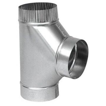 Imperial GV0899 Furnace Pipe Full Flow Tee, 8 x 8 x 8 Dia., 26 Gauge