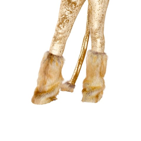Lion Leg Warmers, Brown Fur Leg Warmers - One Size Fits Most