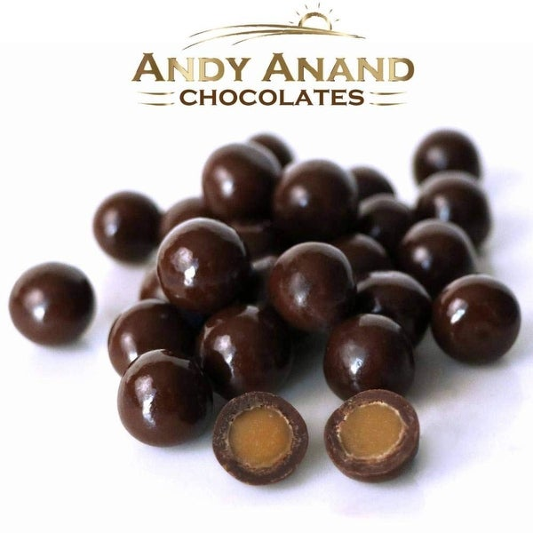 Andy Anand Belgian Chocolate Espresso Caramel Malt Ball Gift Boxed & Card. Opens flyout.