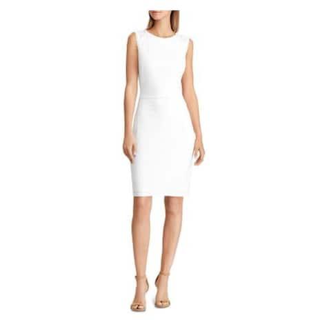 RALPH LAUREN White Sleeveless Above The Knee Dress 6