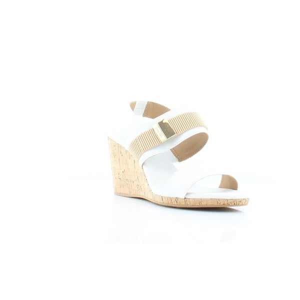 Calvin Klein Danette Women's Sandals & Flip Flops White - 8.5