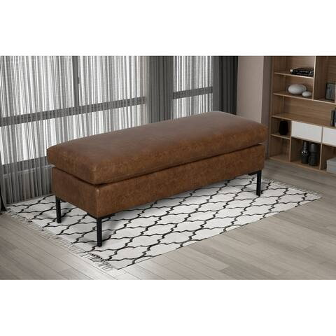 Saddle Upholstered Modern Bench